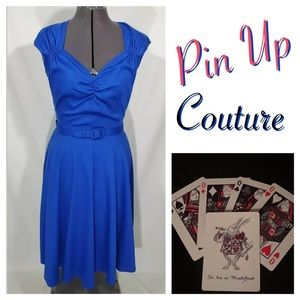 NEW Pin Up Couture Heidi Party Dress M Retro